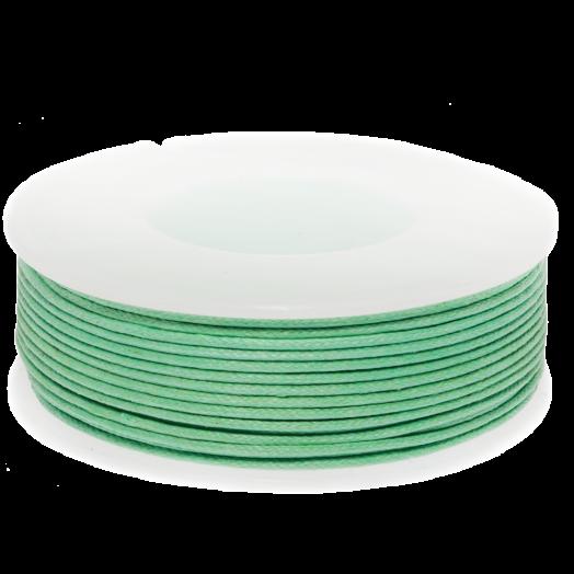Wachsschnur (1 mm) Bright Mint Green (25 Meter)