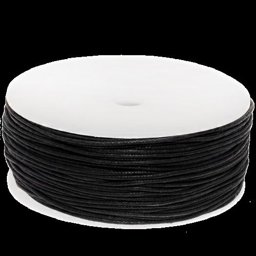 Wachsschnur (1 mm) Black (90 Meter)