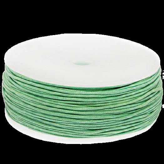 Wachsschnur (1 mm) Bright Mint Green (90 Meter)