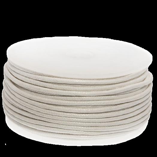 Wachsschnur (1.5 mm) White (25 Meter)