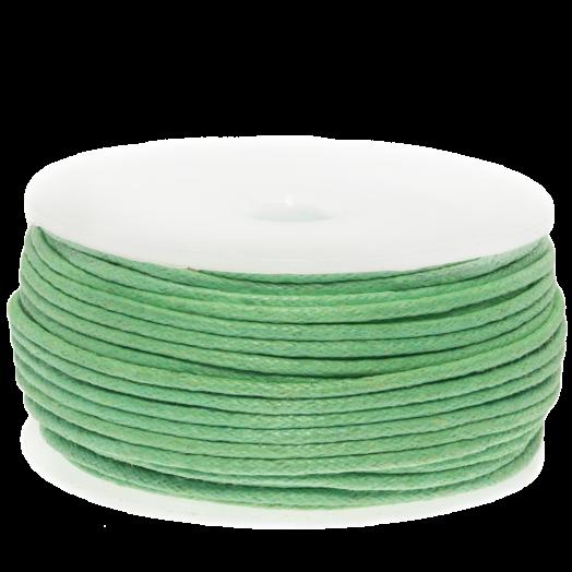 Wachsschnur (1.5 mm) Bright Mint Green (25 Meter)
