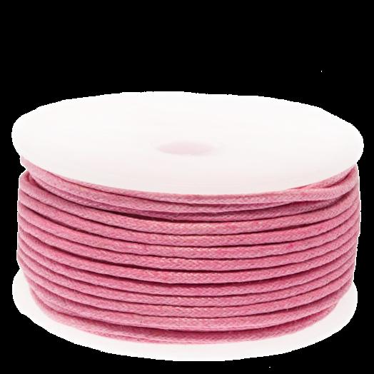 Wachsschnur (1.5 mm) Pink (25 Meter)