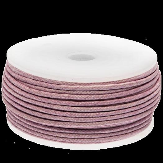 Wachsschnur (1.5 mm) Soft Violet (25 Meter)
