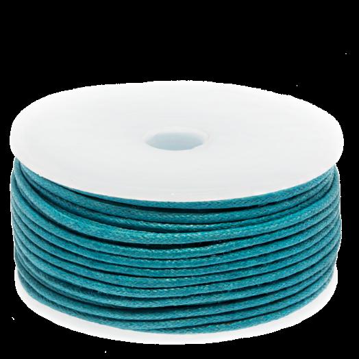 Wachsschnur (1.5 mm) Dark Sky Blue (25 Meter)