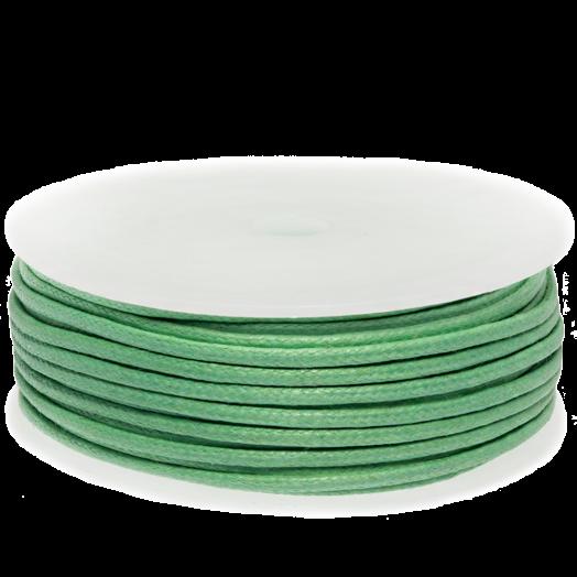Wachsschnur (2 mm) Bright Mint Green (25 Meter)