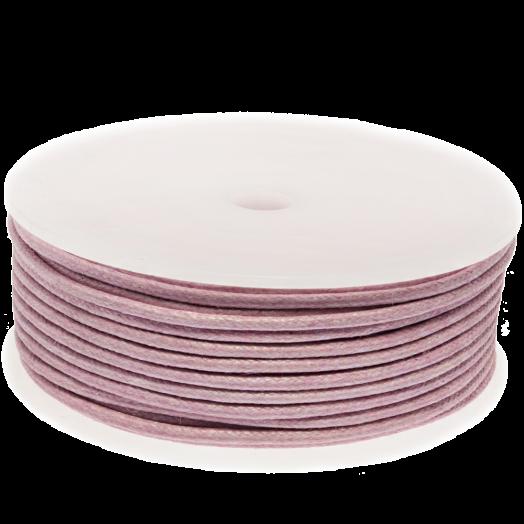 Wachsschnur (2 mm) Soft Violet (25 Meter)