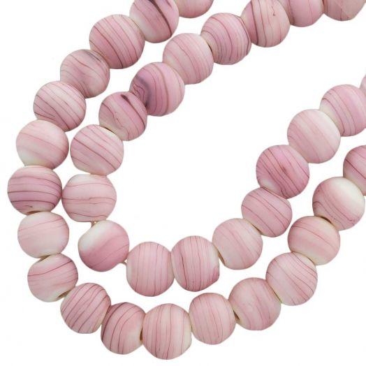 Glasperlen Matt (10 mm) Pink (22 Stück)