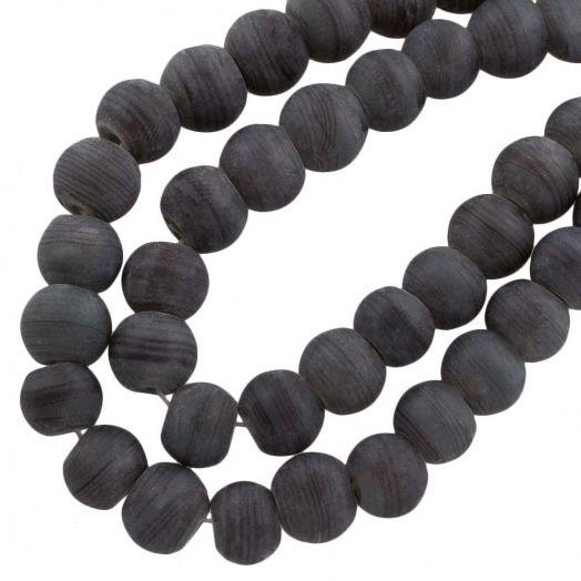 Glasperlen Matt (10 mm) Dark Grey (22 Stück)