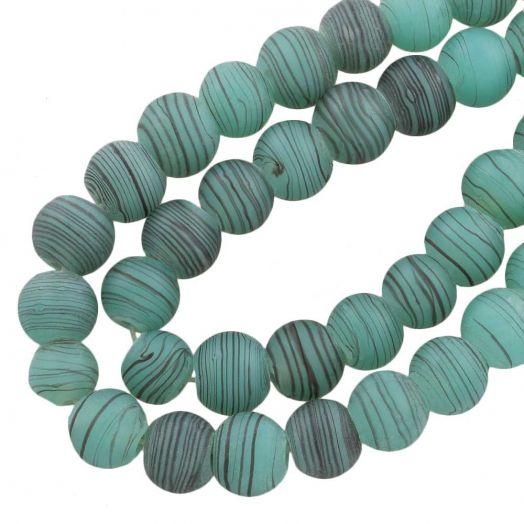 Glasperlen Matt (10 mm) Sea Green (22 Stück)