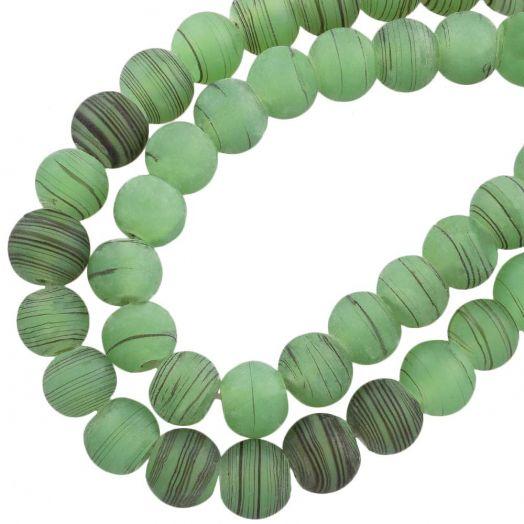 Glasperlen Matt (10 mm) Green (22 Stück)