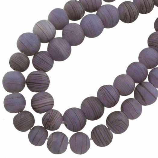 Glasperlen Matt (10 mm) Mauve Purple (22 Stück)