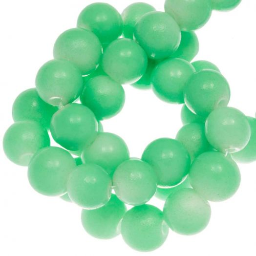 Glasperlen (10 mm) Bright Mint Green (21 Stück)