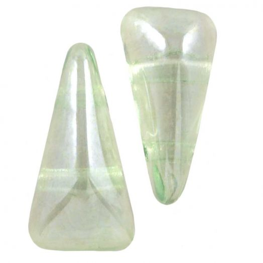 Vexolo® DQ Glasperlen (5 x 8 mm) Crystal Mint (20 Stück)