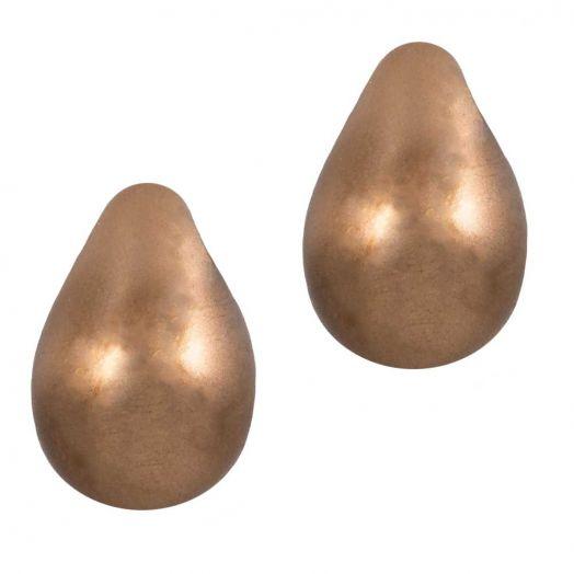 DQ Glaswachsperlen (9 x 6 mm) Bronze (20 Stück)