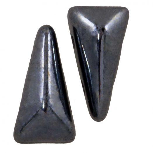 Vexolo® DQ Glasperlen (5 x 8 mm) Hematite (20 Stück)