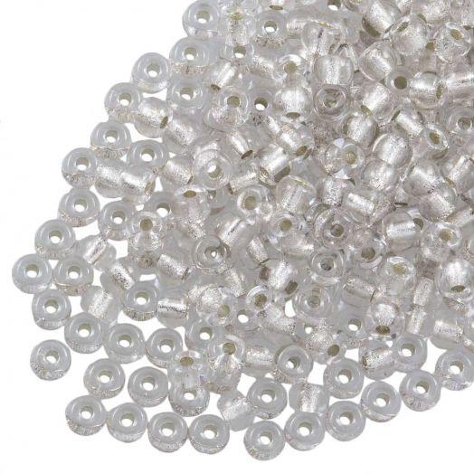 DQ Rocailles (2 mm) Centered Silver (10 Gramm / 1000 Stück)