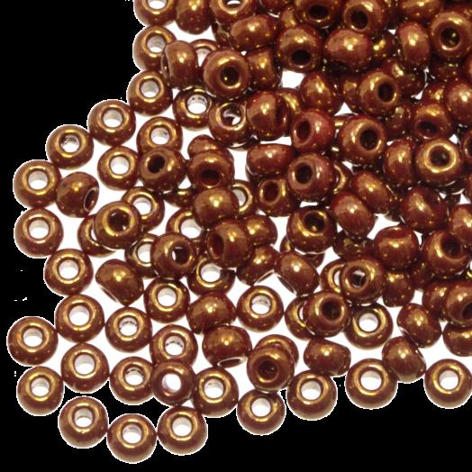 DQ Rocailles (2 mm) Shine Golden Red (10 Gramm / 1000 Stück)