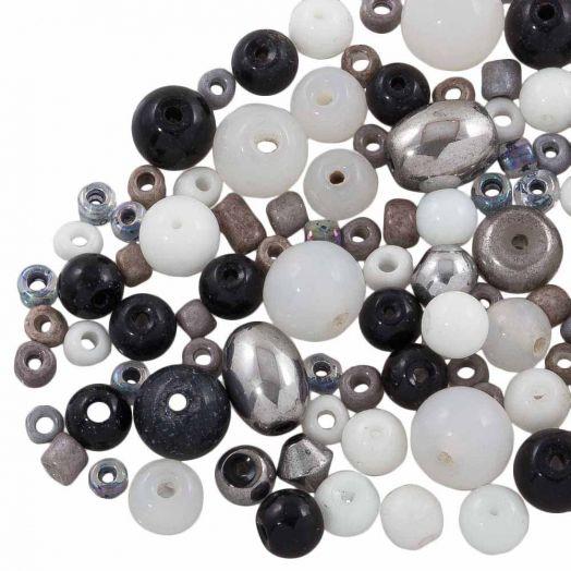 Vorteilset - Glasperlen (verschiedene Größen) Mix Color (100 Gramm)