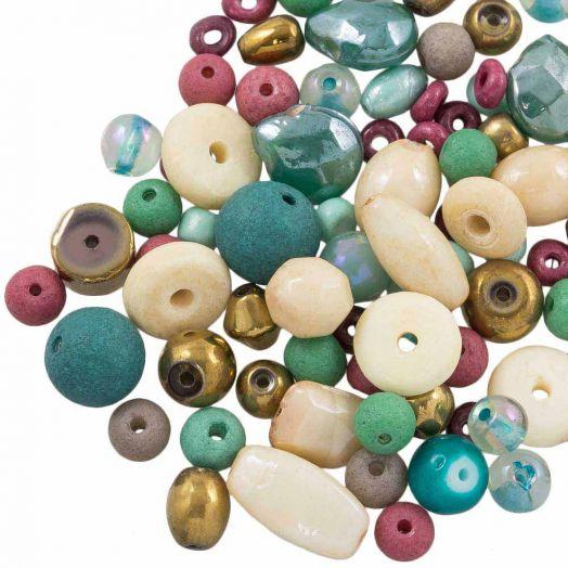 Vorteilset - Glasperlen (verschiedene Größen) Mix Color (50 Gramm)