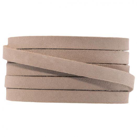 DQ Flaches Leder (5 x 2 mm) Cream Brown (1 Meter)