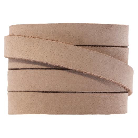 DQ Flaches Leder (10 x 2 mm) Cream Brown (1 Meter)