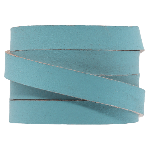 DQ Flaches Leder (10 x 2 mm) Sapphire Metallic (1 Meter)