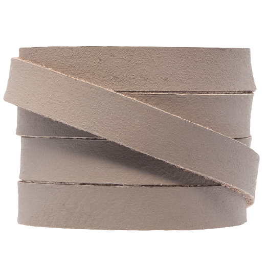 DQ Flaches Leder (10 x 2 mm) Taupe (1 Meter)