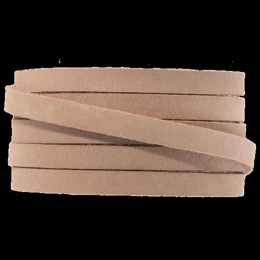 DQ Leder Flach (5 x 2 mm) Cream Brown (1 Meter)
