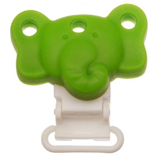 Schnullerhalter Elefant (42 mm) Clear Green (1 Stück)