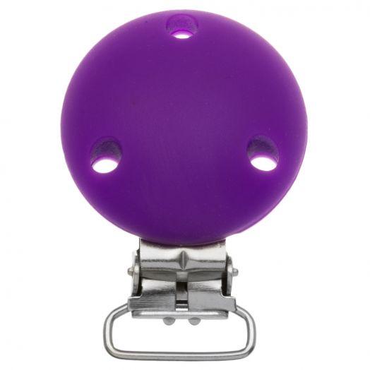 Schnullerhalter Rund (50 mm) Purple (1 Stück)