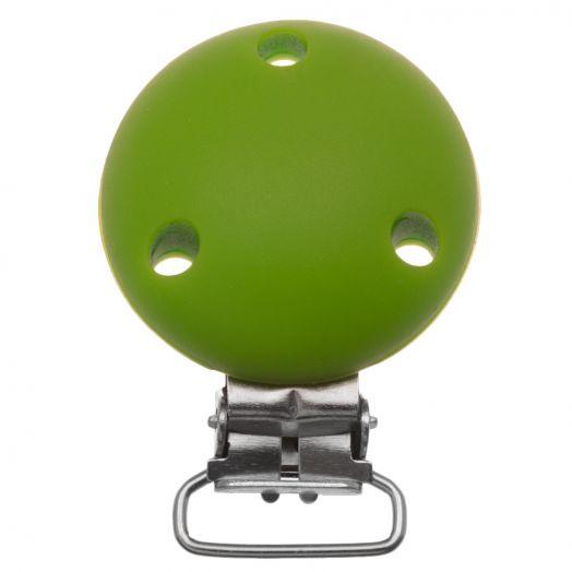 Schnullerhalter Rund (50 mm) Clear Green (1 Stück)