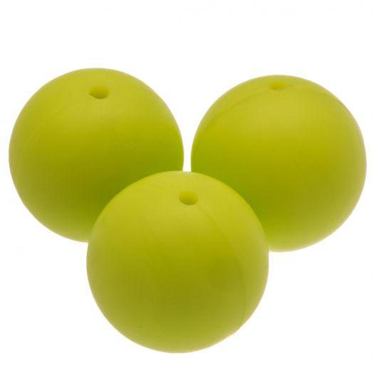 Silikon Perlen (18 mm) Lime (5 Stück)