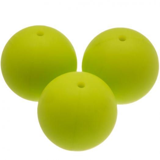 Silikon Perlen (20 mm) Lime (4 Stück)