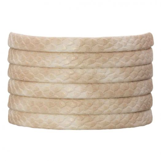 Flaches Band (5 x 2 mm) Sparkling Sales Creme (1 Meter)
