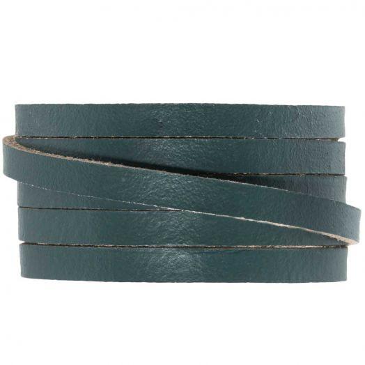 DQ Flaches Leder (5 x 2 mm) Grey Green (1 Meter)