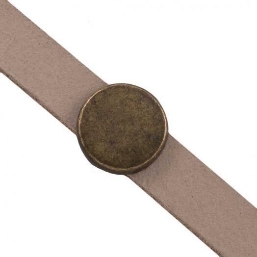 Schieber (Innenmaß 5 x 2 mm) Bronze (10 Stück)