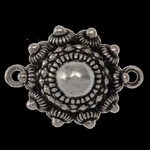 Zwischenstück Trachtenknopf (25 mm) Altsilber (2 Stück)