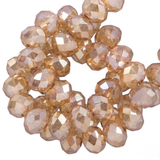 Facetperlen Rondell (2 x 3 mm) Sepia (150 Stück)