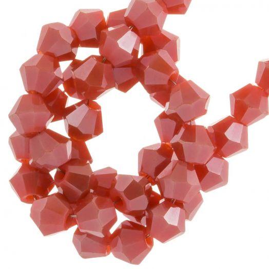 Facetperlen Bicone (4 mm) Blush Red (110 Stück)