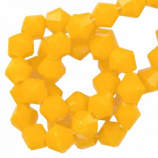 Facetperlen Bicone (4 mm) Canary Yellow (110 Stück)