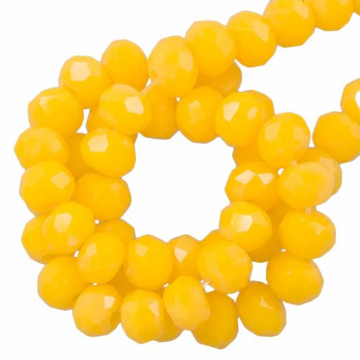 Facetperlen Rondell (2 x 3 mm) Canary Yellow (150 Stück)