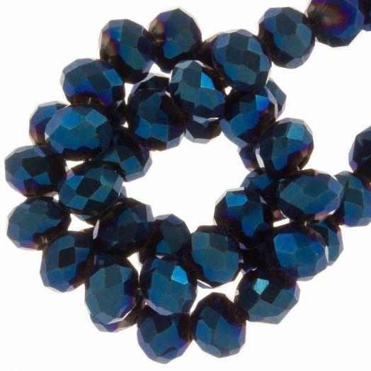 Facetperlen Rondell (2 x 3 mm) Blue Shine (150 Stück)