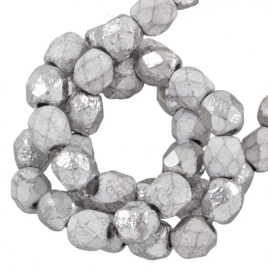 DQ Feuerpolierte Perlen (4 mm) Silver (50 Stück)
