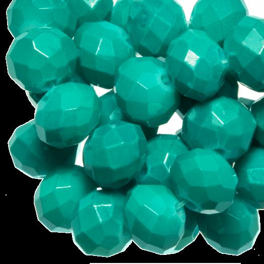 Facetperlen Rondell (2 x 3 mm) Teal (150 Stück)