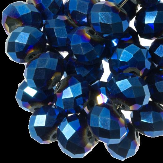 Facetperlen Rondell (8 x 6 mm) Blue Shine (72 Stück)