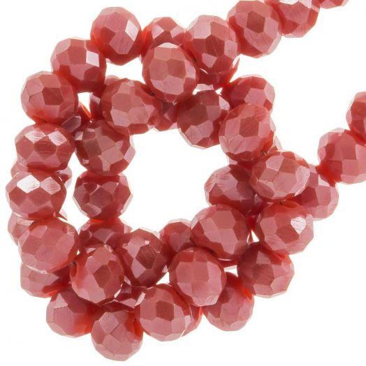 Facetperlen Rondell (3 x 4 mm) Blush Red (147 Stück)