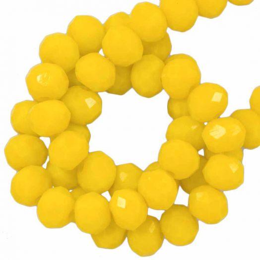 Facetperlen Rondell (3 x 4 mm) Mustard Yellow (147 Stück)