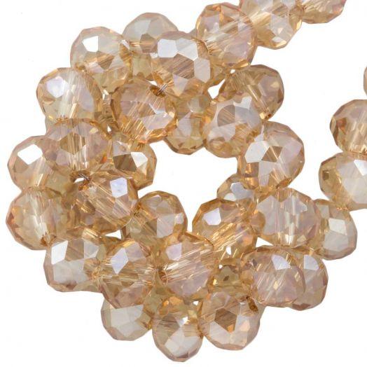 Facetperlen Rondell (6 x 4 mm) Sepia (95 Stück)