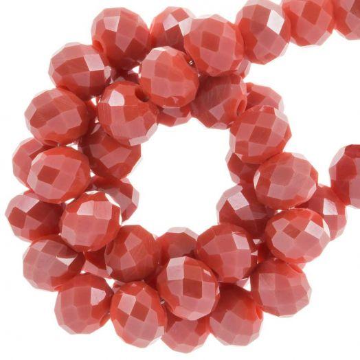 Facetperlen Rondell (6 x 4 mm) Blush Red (95 Stück)
