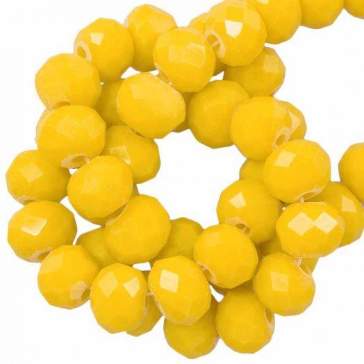 Facetperlen Rondell (6 x 4 mm) Mustard Yellow (95 Stück)